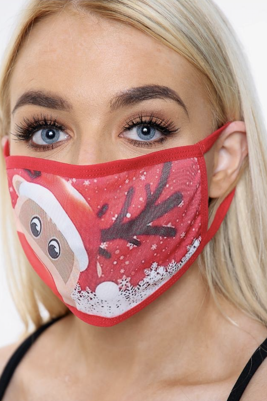 Rudolph Christmas Face Mask.(one size)