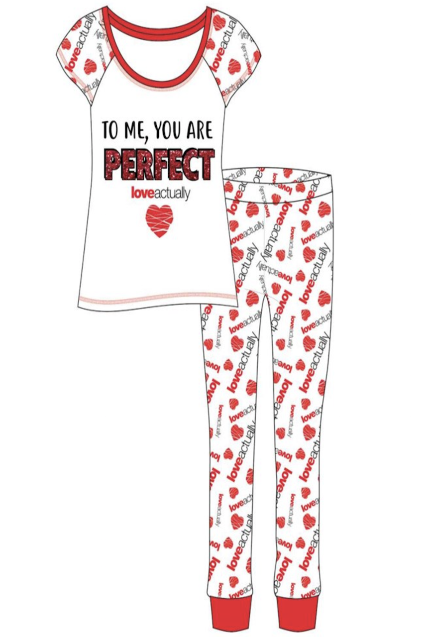 Ladies Love Actually To me you are Perfect Pj's