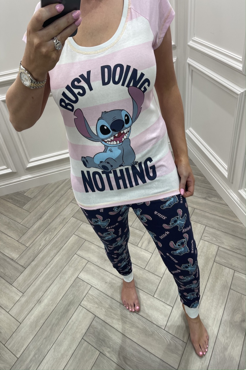 Ladies Stitch Busy Doing Nothing  Pj's