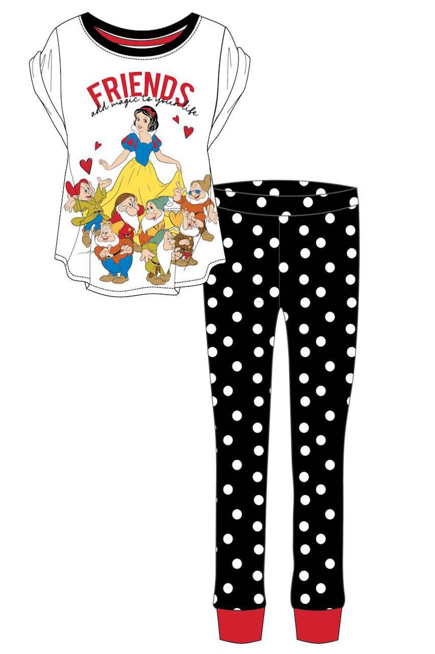 Ladies Snow White Friends Pj's