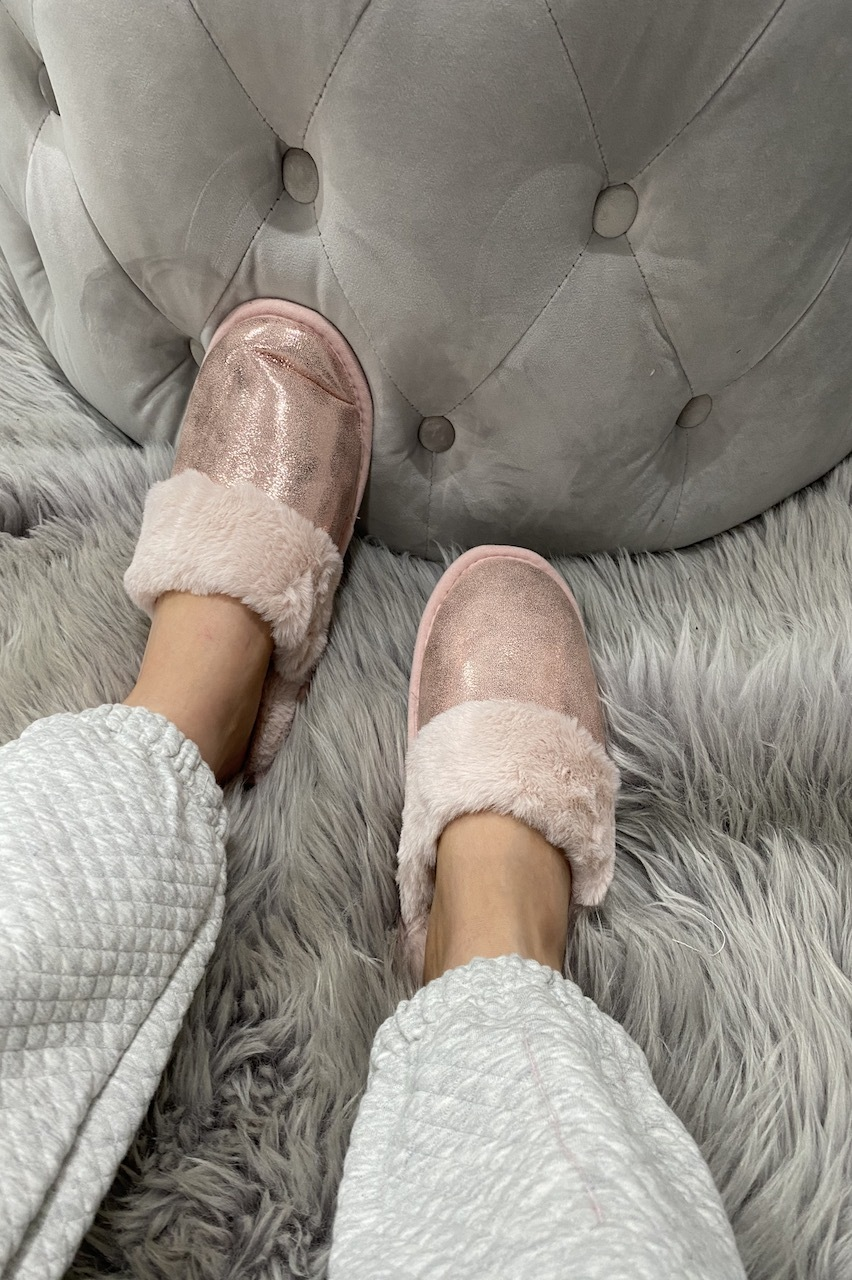 Pink Sparkle Dream Fluffy Slippers