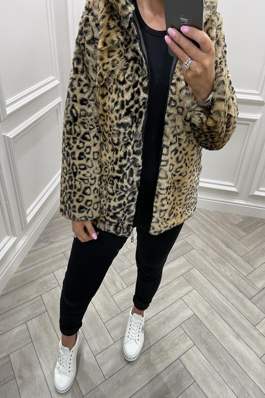 Leopard Dream Faux Fur Coat