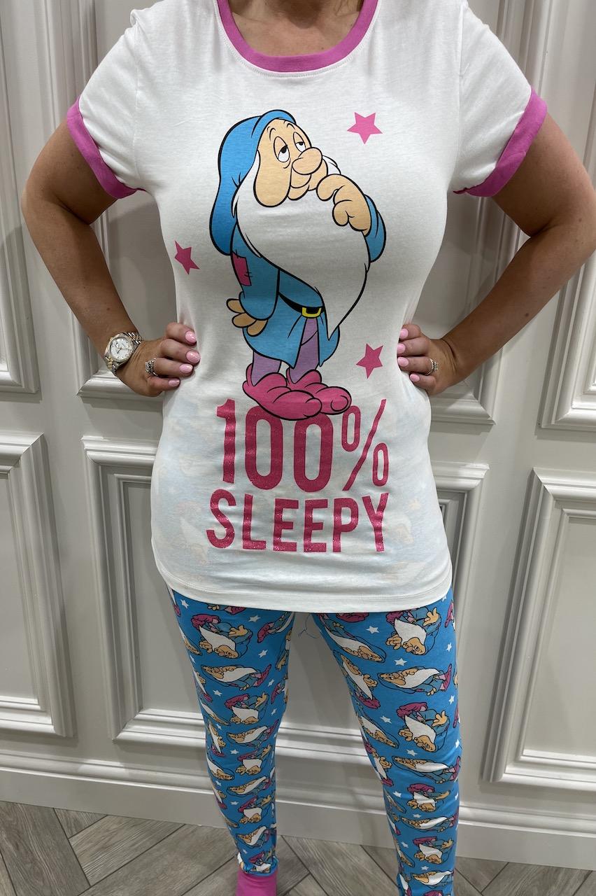 Ladies Sleepy Dwarf 100% Sleepy  Pj's