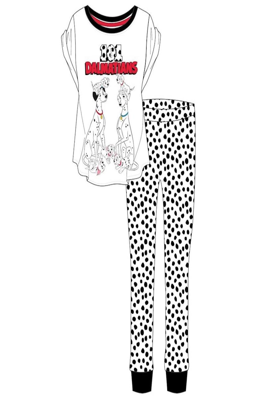 Ladies Black & White 101 Dalmatian's Pj's