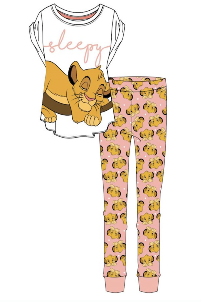 Ladies Lion King Sleepy  PJ'S