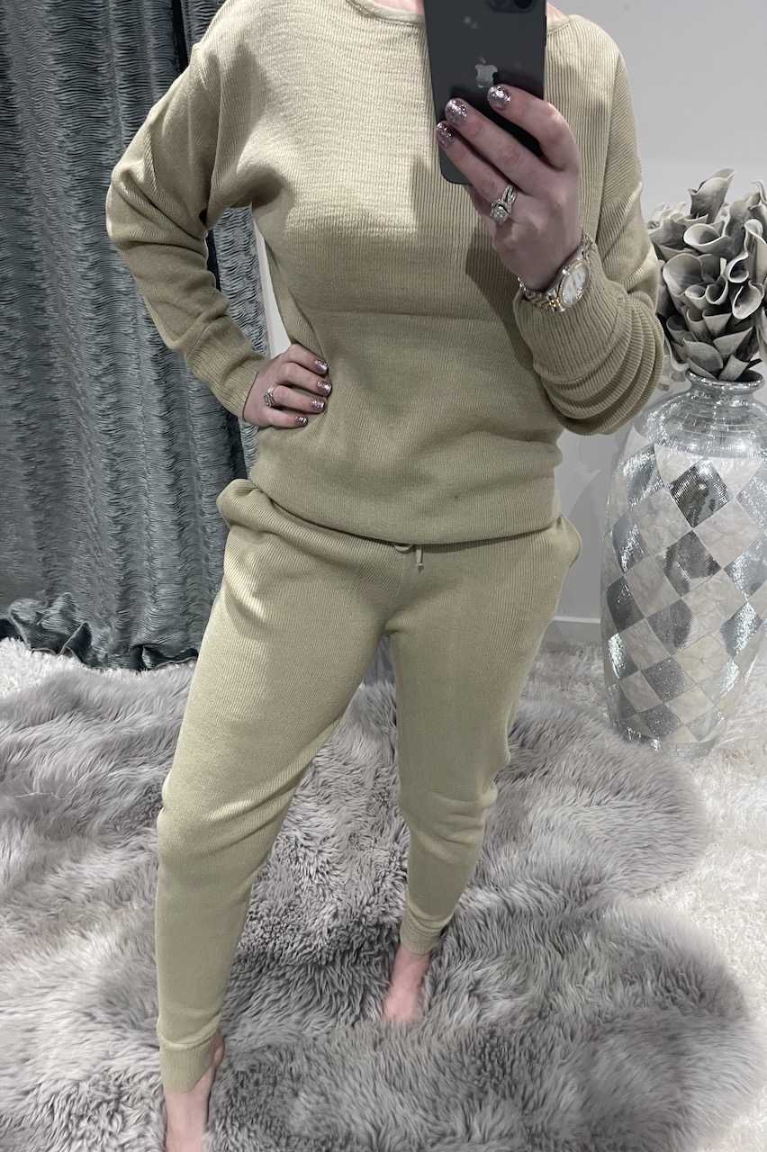 Stone Cosy Knitted  Loungesuit
