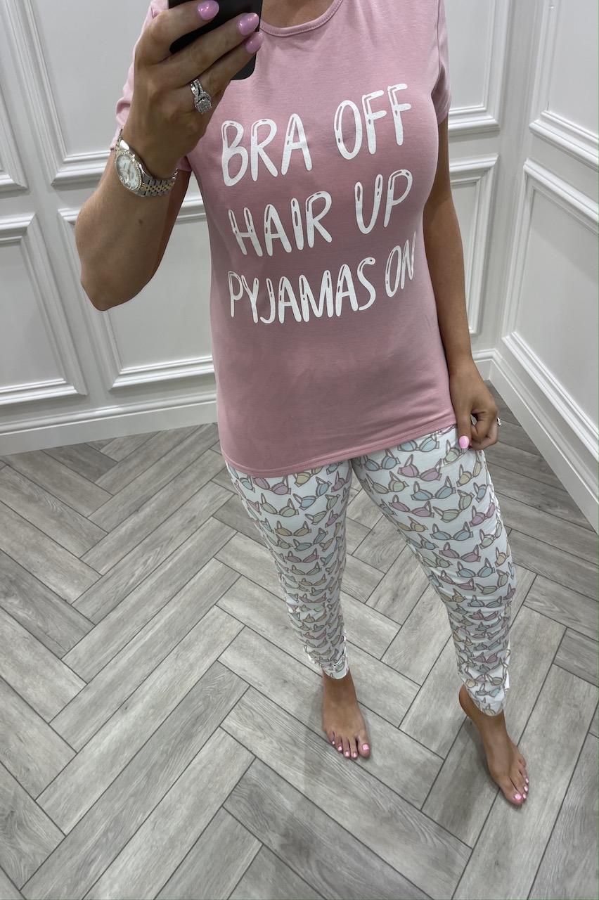 Bra Off, Hair Up, Pyjama's On Pj's