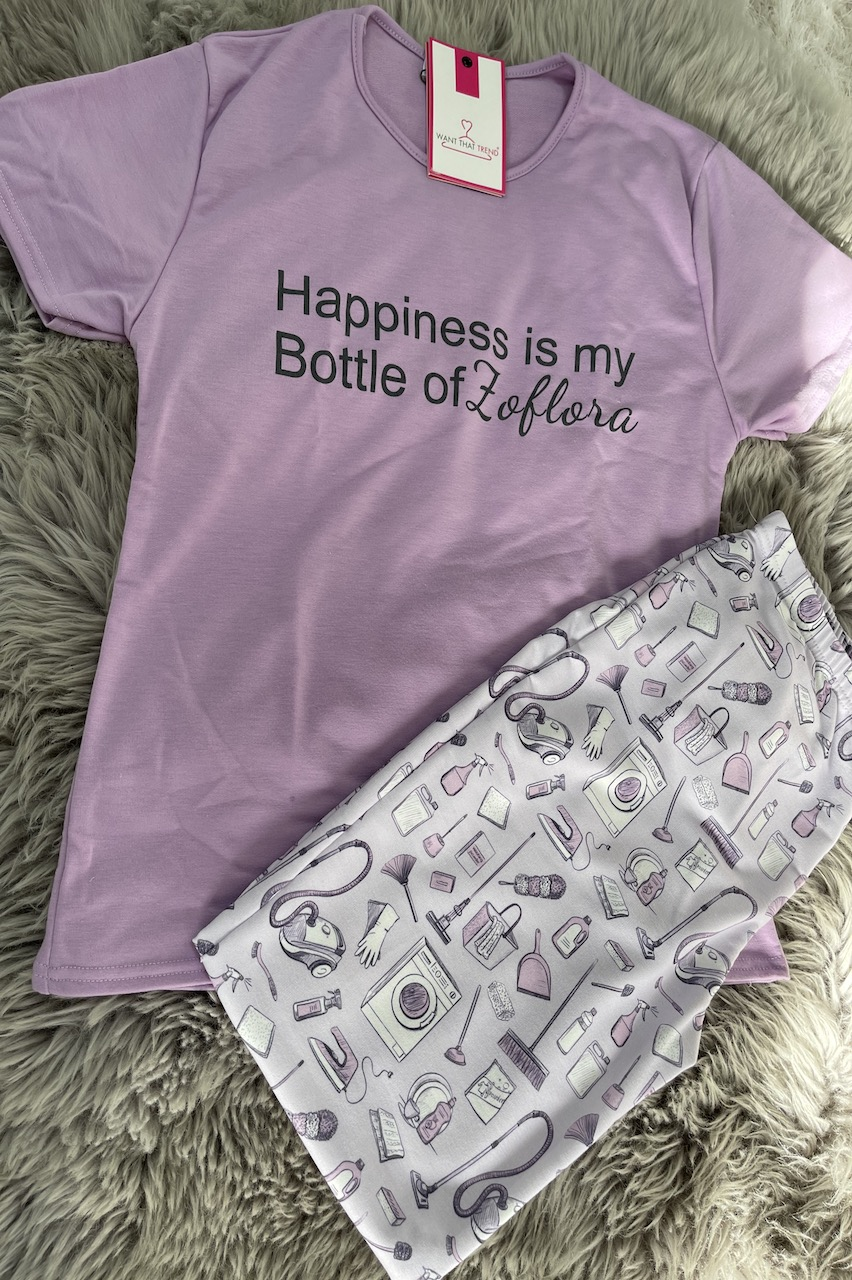 Happiness is my Bottle Of Zoflora Pj's