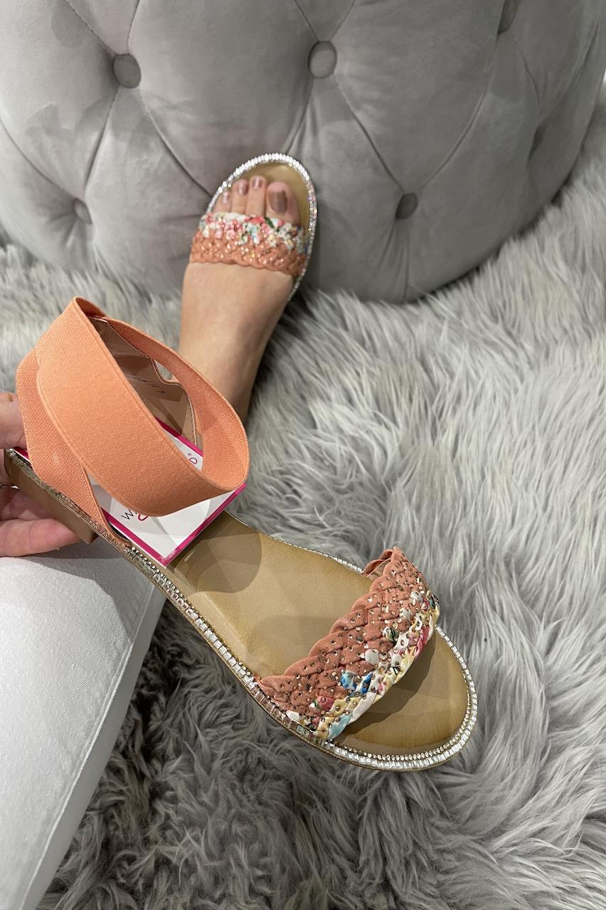 Orion Pink Embellished Sandals