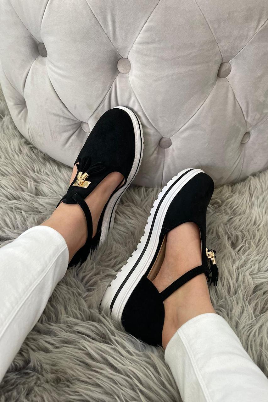 Essex Black Tassel Loafers