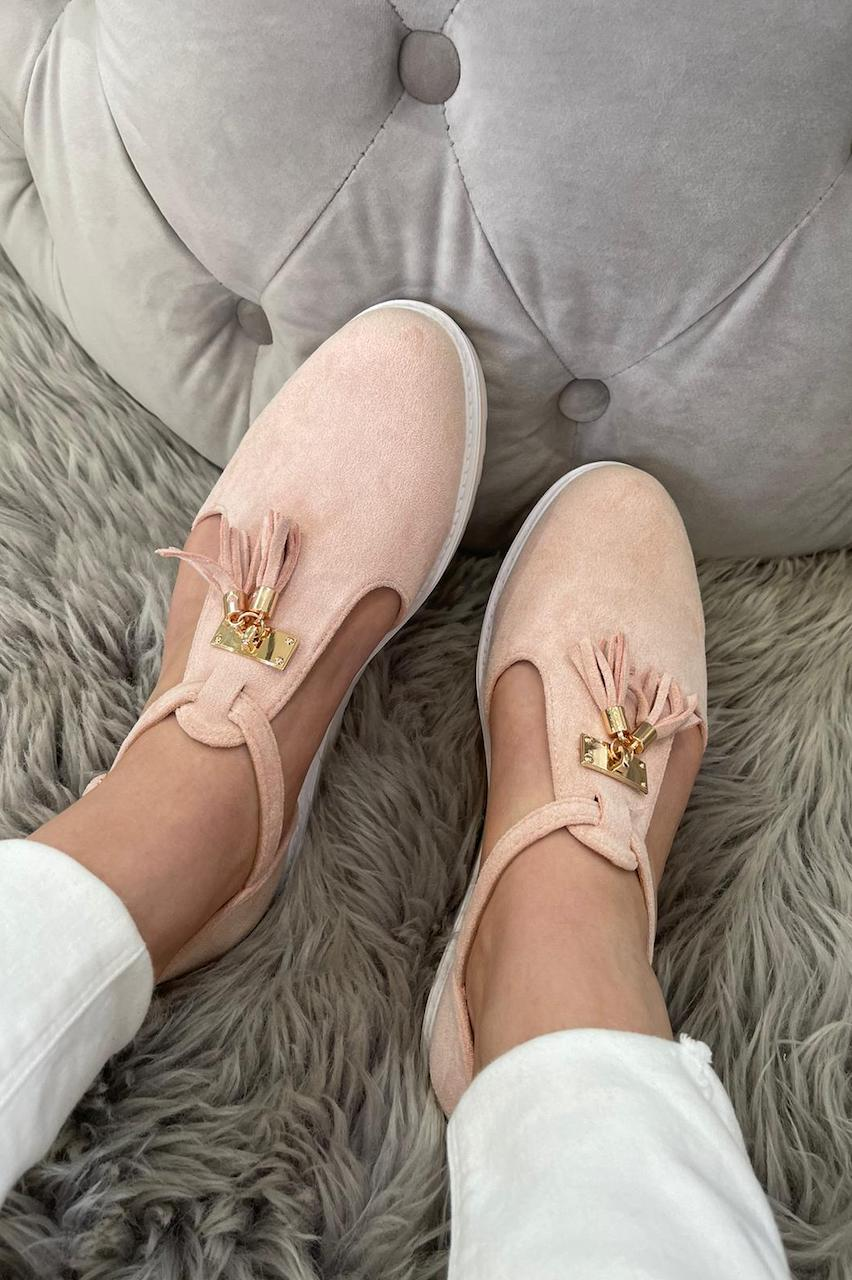 Essex Pink Tassel Loafers