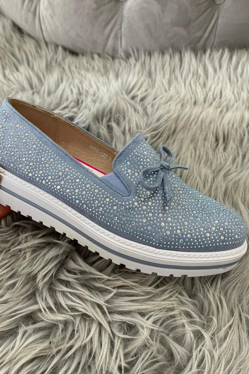 Felicia Blue Loafers