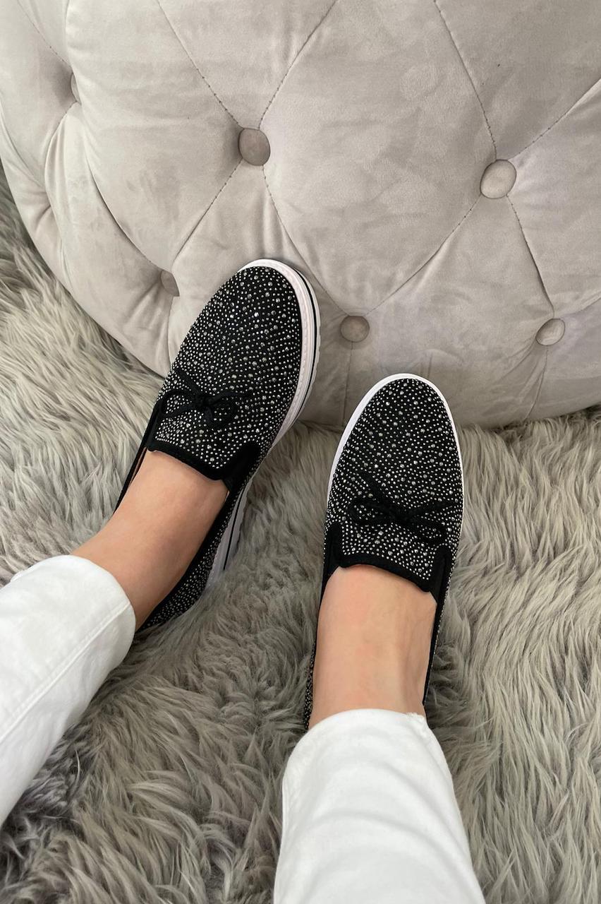 Felicia Black Loafers