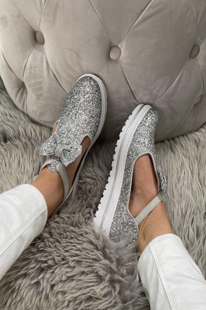 Essex Silver Sparkle  Tassel Loafers