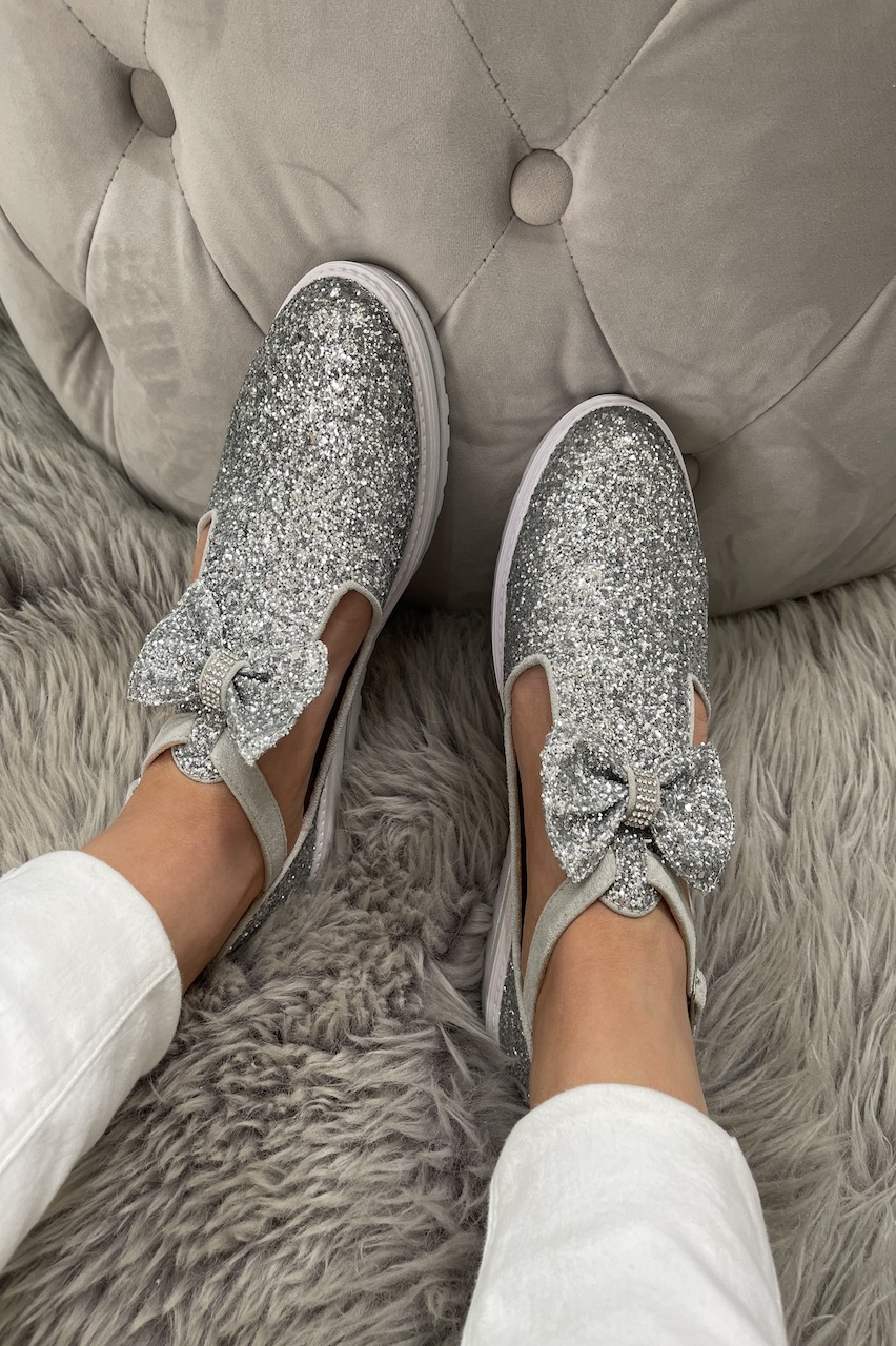 Essex Silver Sparkle  Tassel Loafers