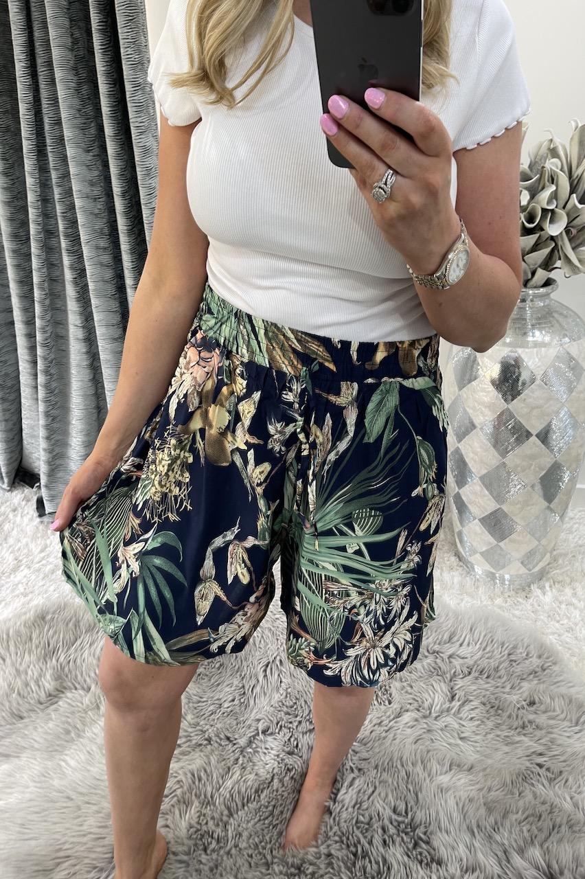 Balia Navy Floral  Shorts