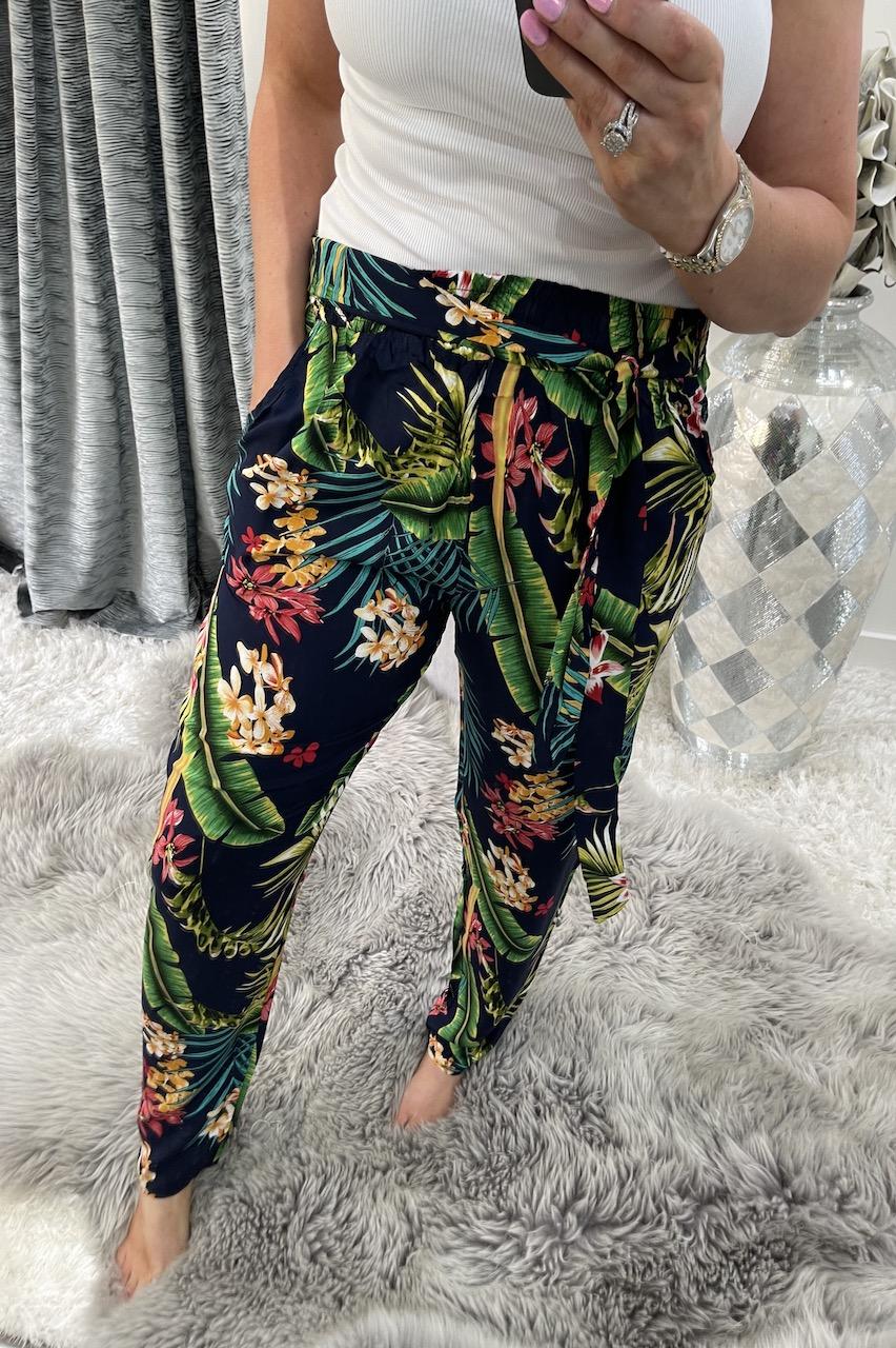 Savannah Navy Floral Trousers