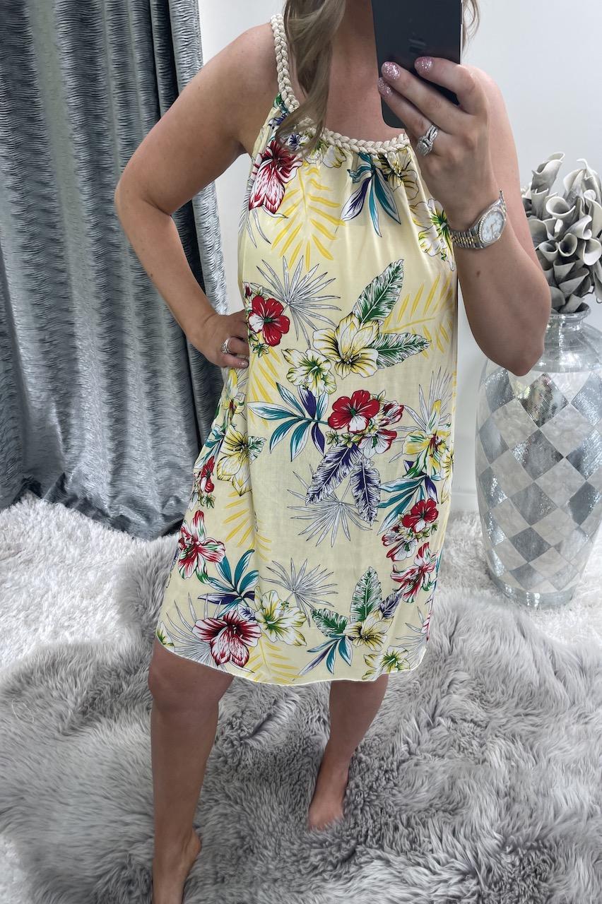 Yellow Brady Floral Tunic Dress