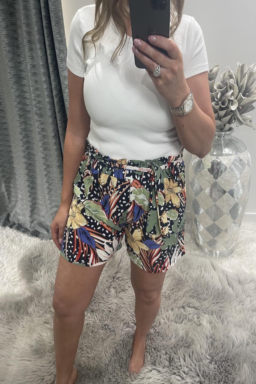 Krystal Navy Floral Shorts