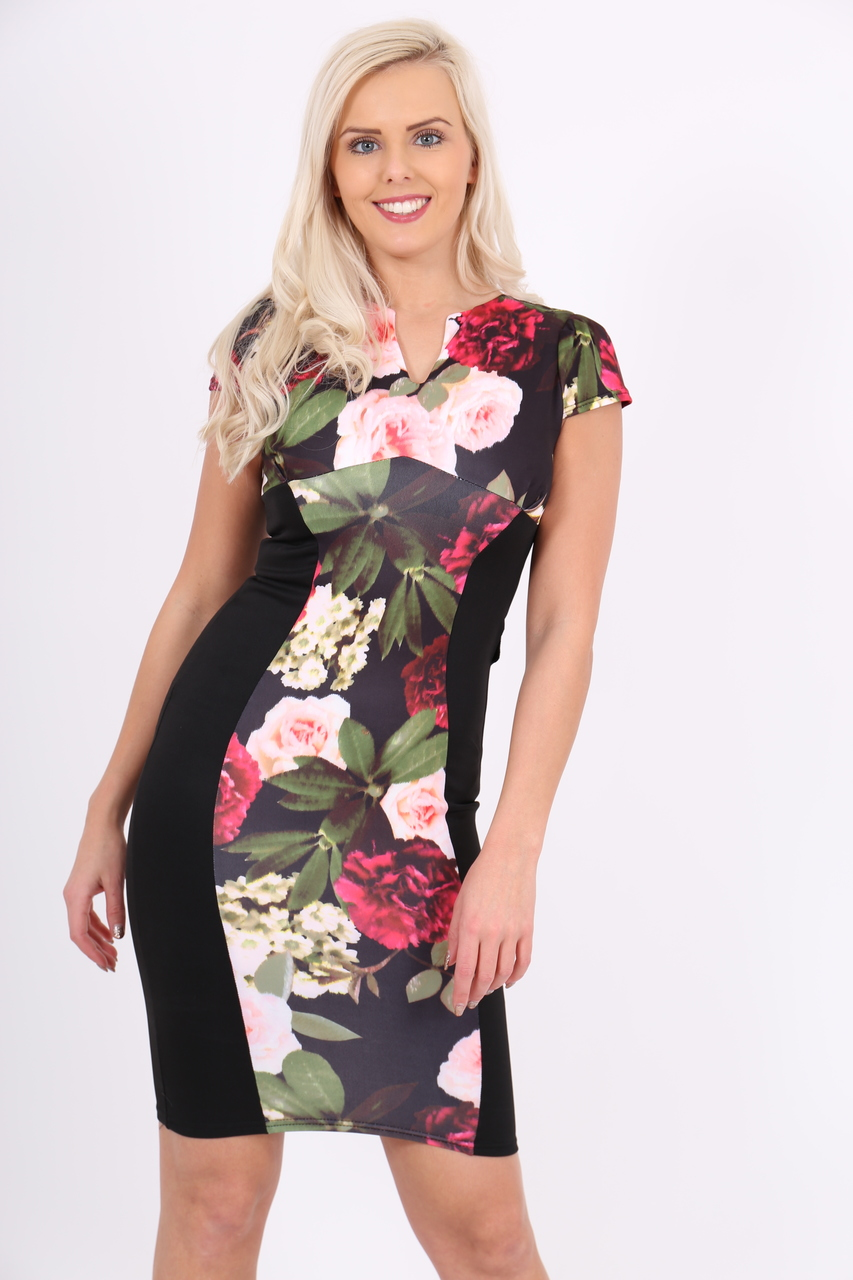 Santeria Black Illusion Bodycon