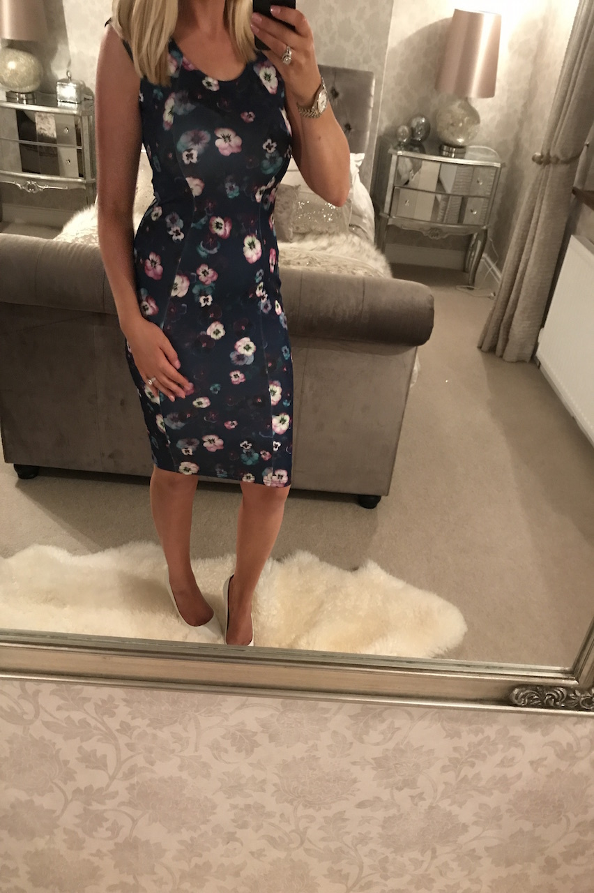 Fleurise Navy Bodycon Dress