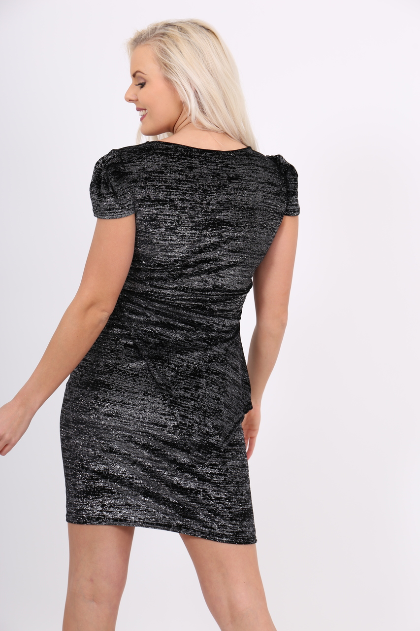Lux Black Glitter Stella Dress