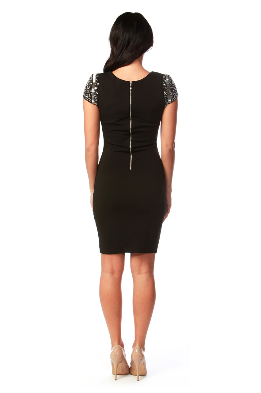 Lux Heiress Black Diamond Bodycon Dress