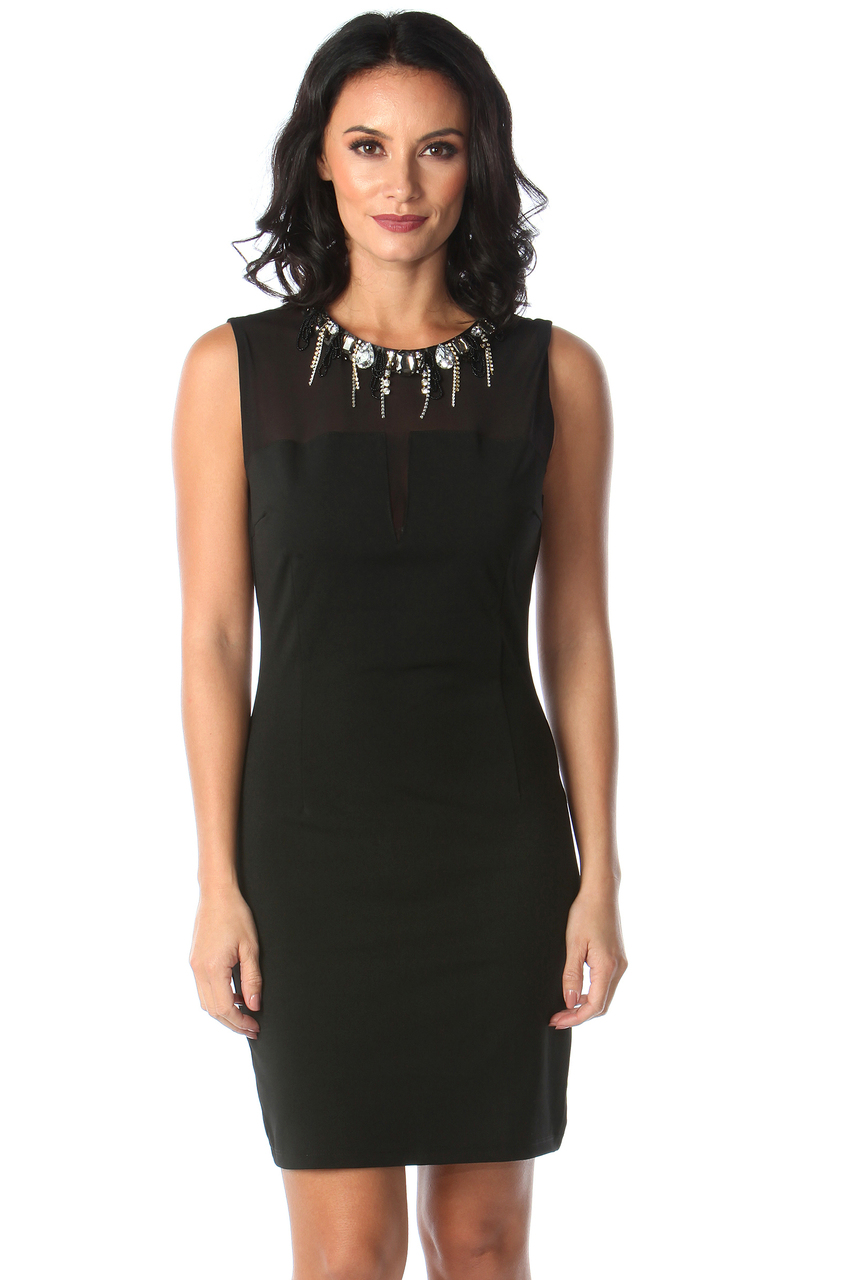 Lux Hellen Black Diamond Bodycon Dress
