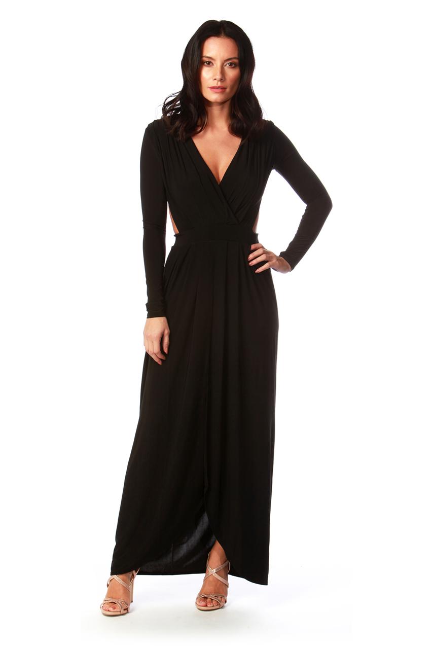 Black Empress Maxi Dress HH
