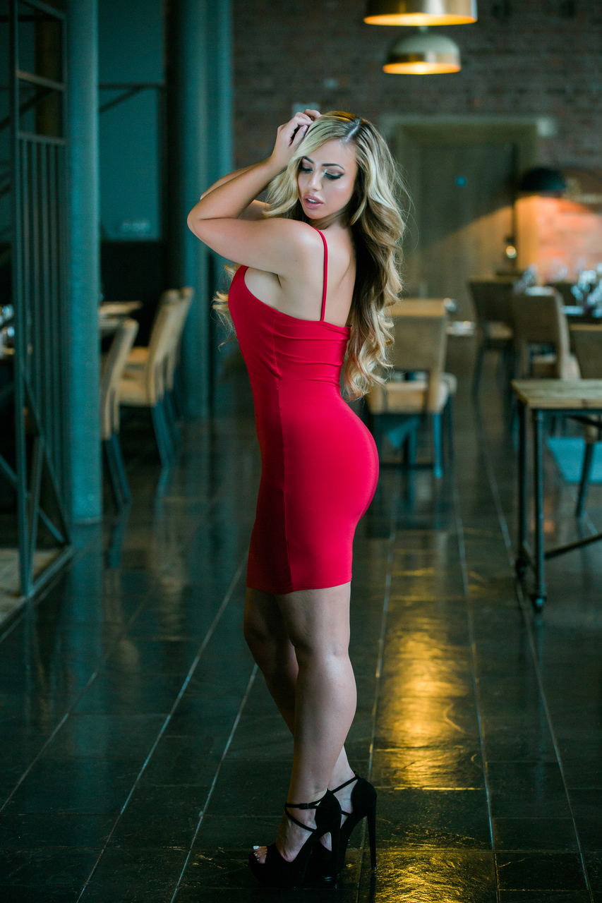Red Shoelace Bodycon Dress