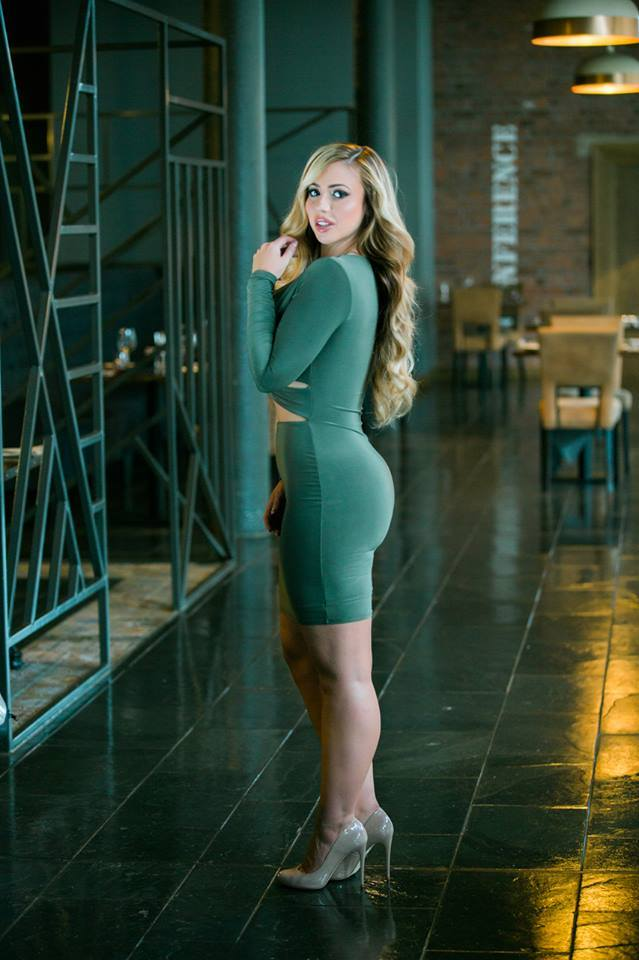 Military Knot Bodycon Dress HH