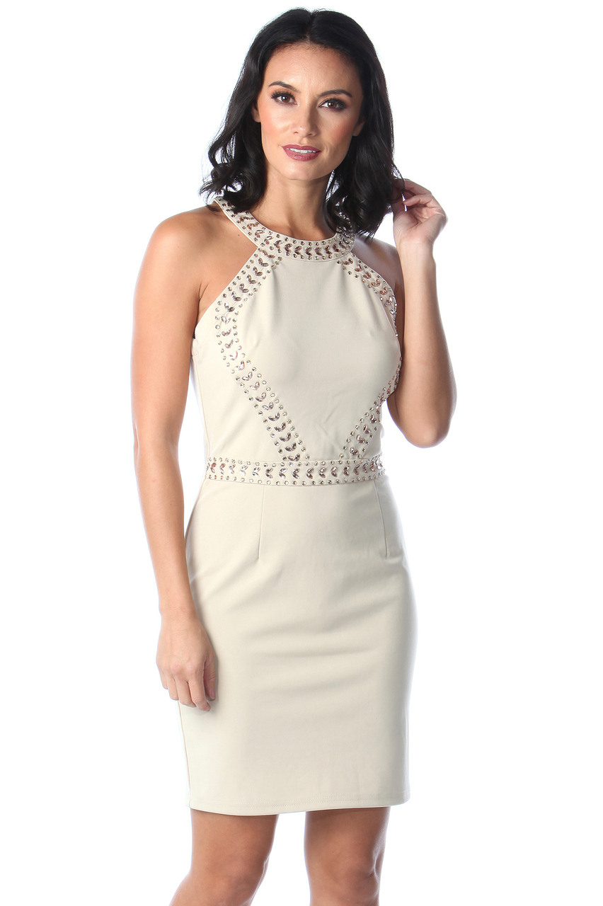 Lux Maya Stone Diamond Bodycon Dress