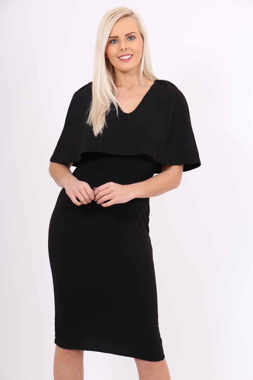Black Fiona Bodycon Dress
