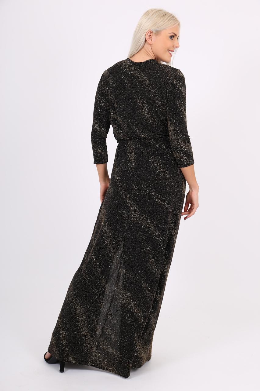 49f44dd13ec Galaxy Black Glitter Maxi Dress - Want That Trend
