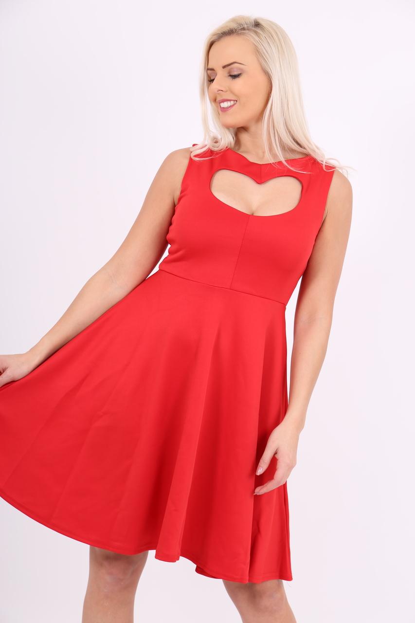 Red Heart Valentines Skater Dress
