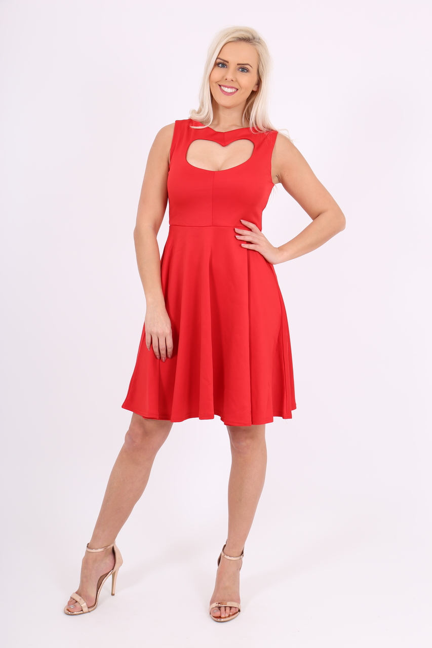 Red Heart Valentines Skater Dress
