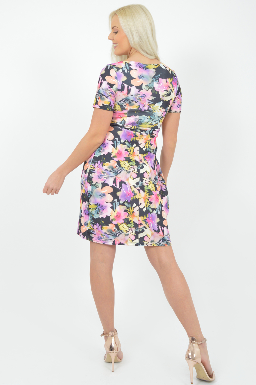 Gabi Multicolour Floral Bodycon Dress