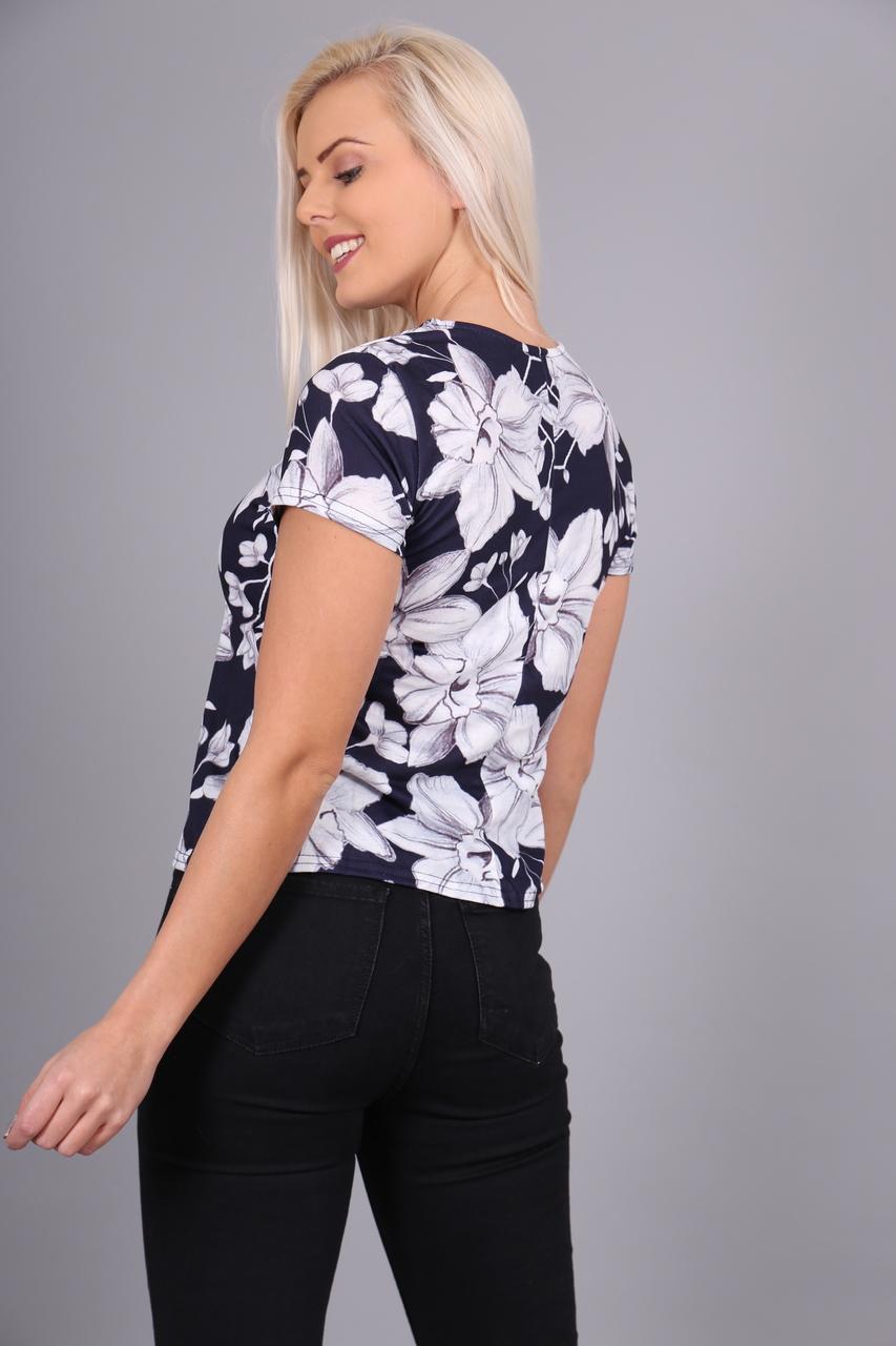 Navy Evie Floral T-Shirt