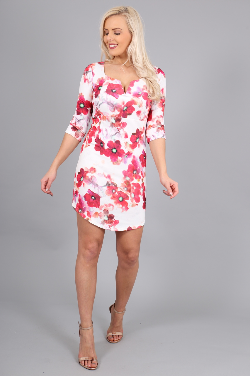 Begonia Floral Bodycon Dress