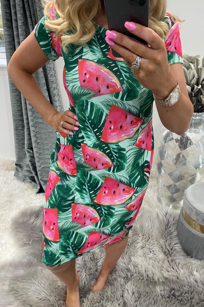 Watermelon Midi Dress