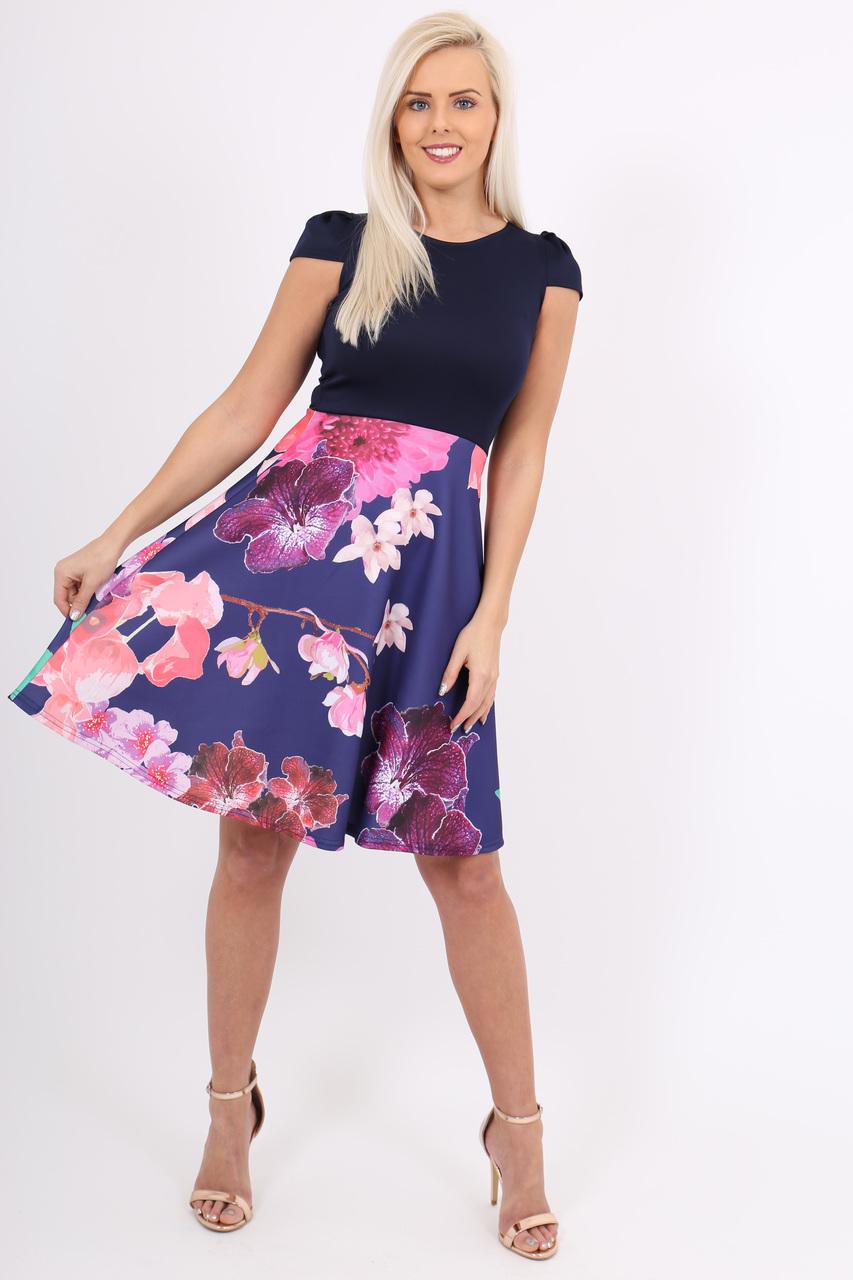 Lindie Contrast Skater Dress