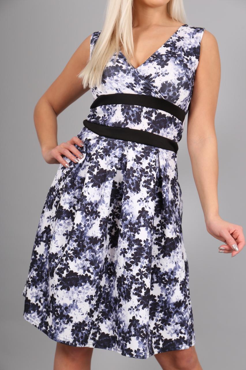 Azure Black & White Floral Skater