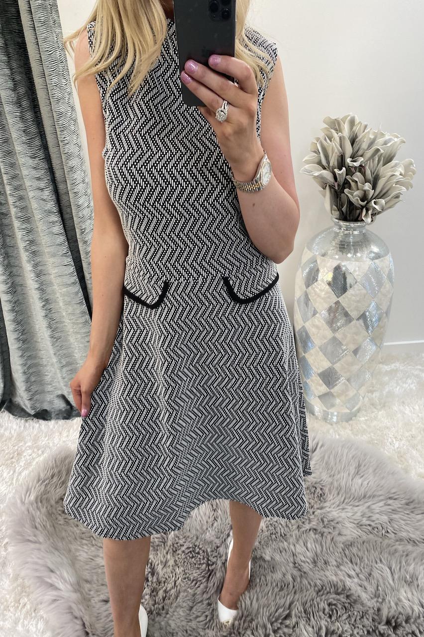 Jacquard Pocket Knitted Dress