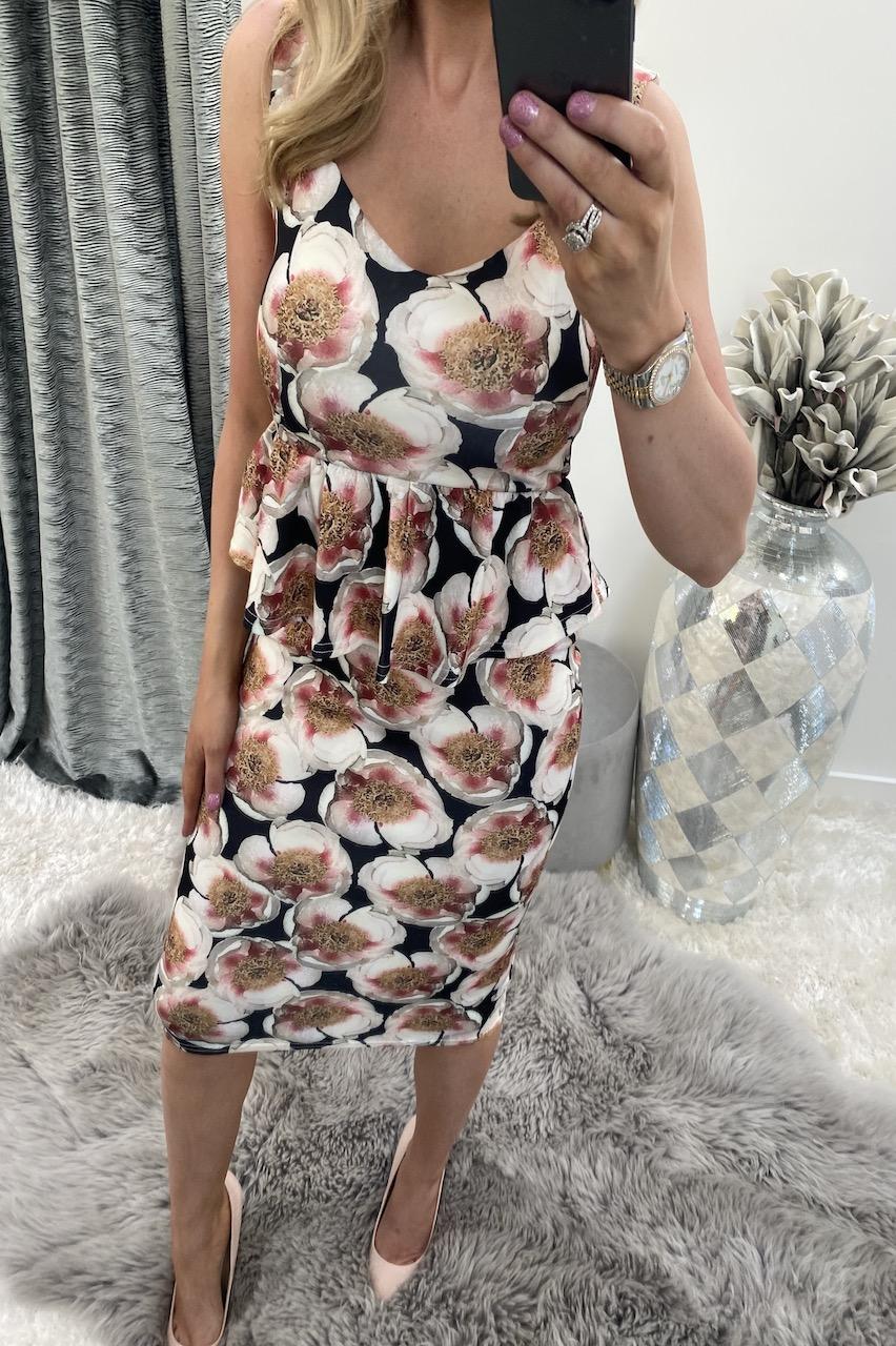 Jasmine Peplum Bodycon Dress
