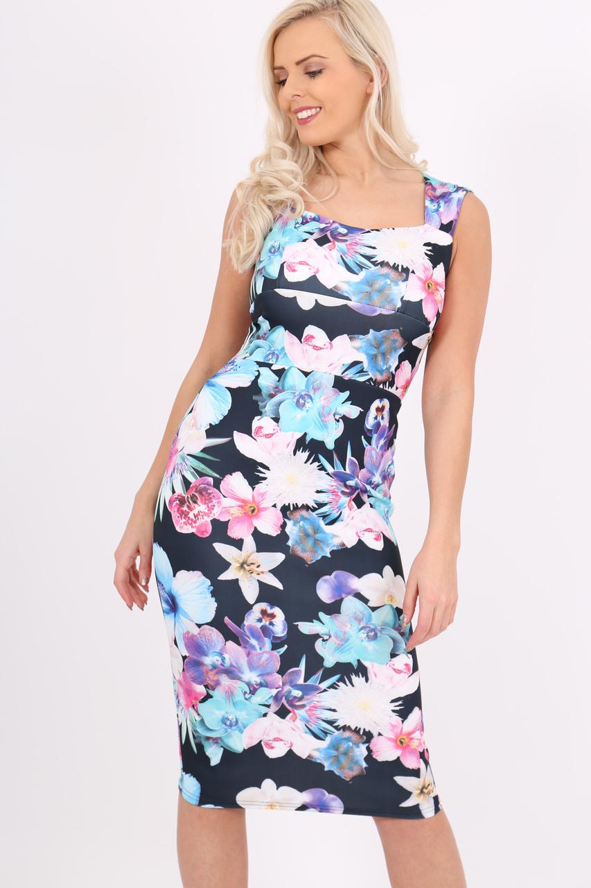 Kimmy Blue SweetHeart Bodycon Dress