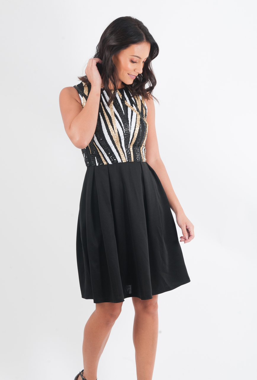 Kalani Sequin Skater Dress