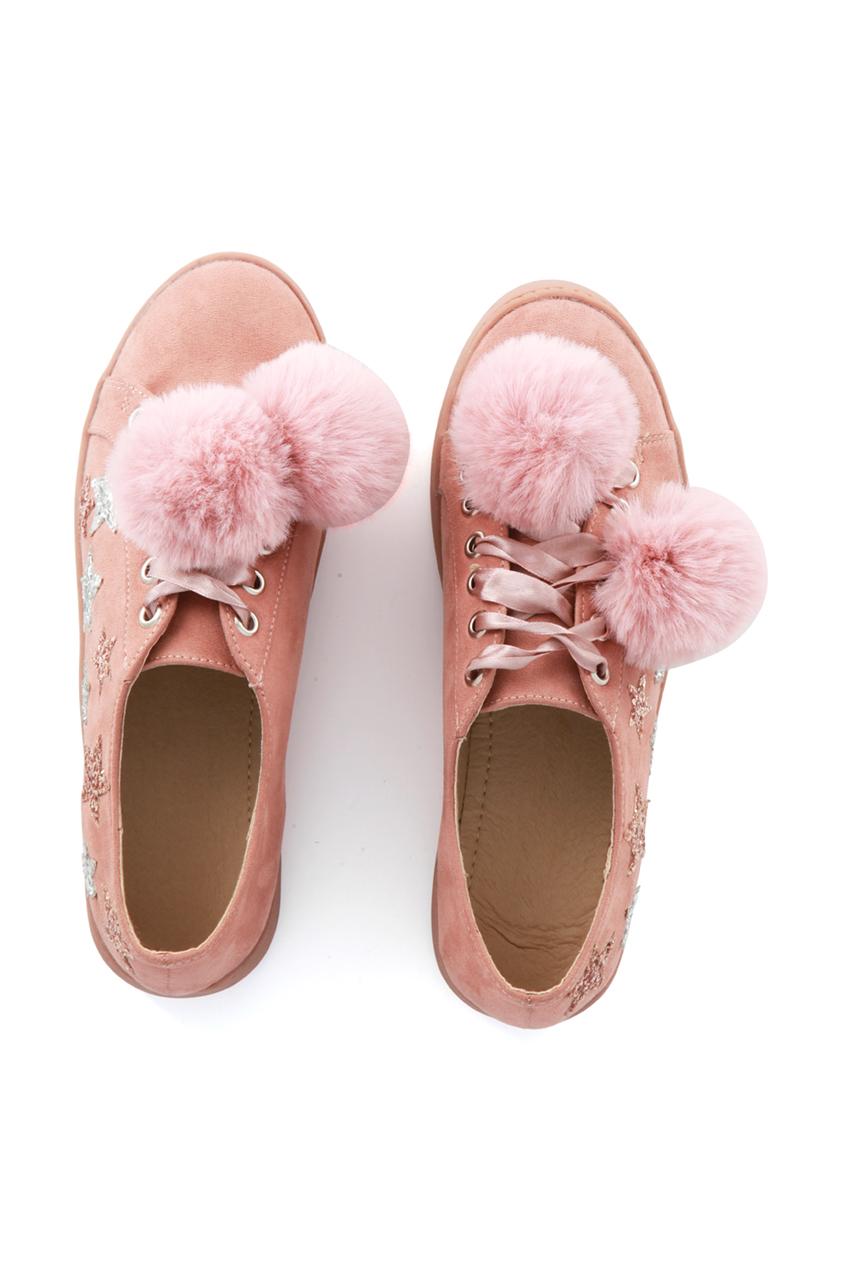 Pink Star Pom Pom Trainers
