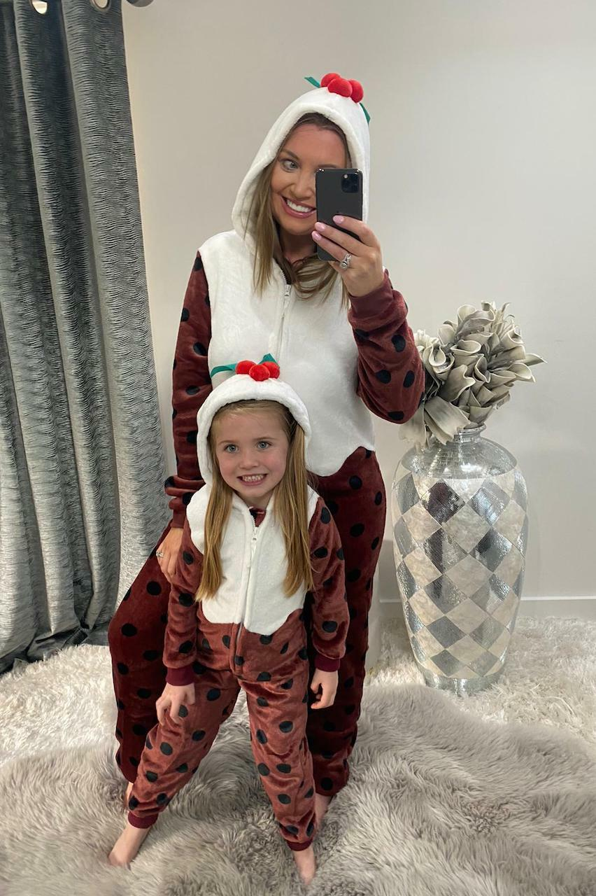 Deluxe Fleece Christmas Pudding Onesie