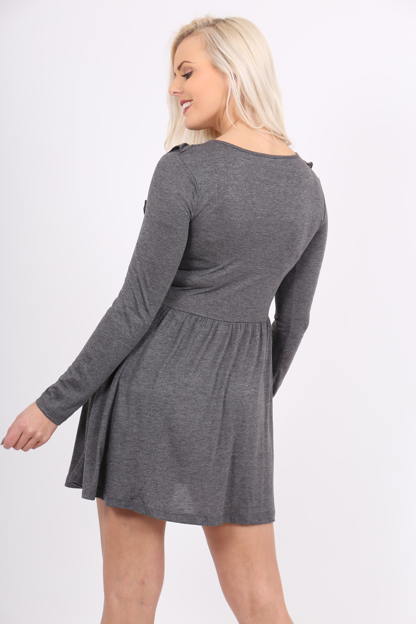 Cute & Casual Charcoal Skater