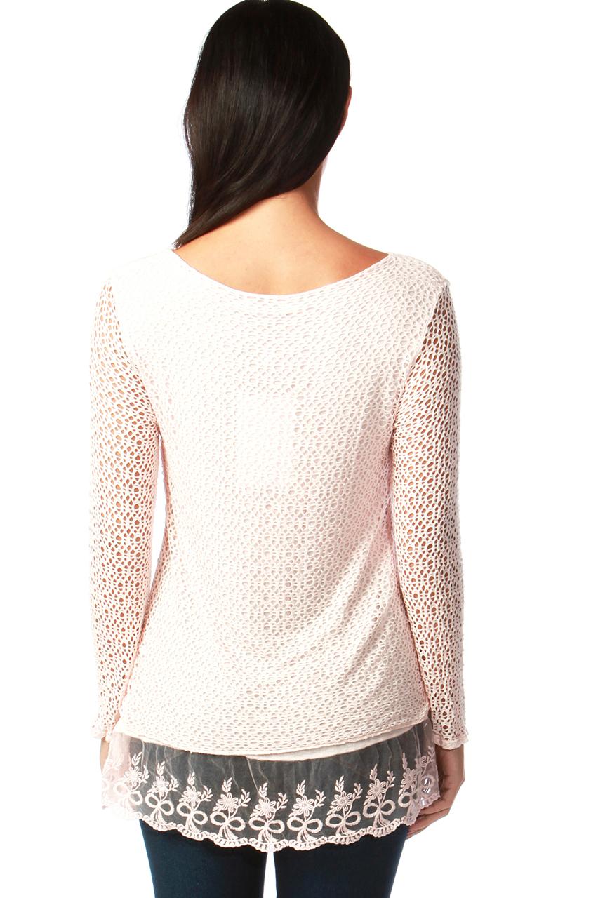 Natalie Nude Crochet Top